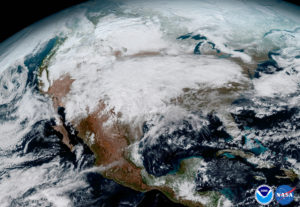 GOES-16 North America image shows a significant storm (Photo Credit: NASA/NOAA)
